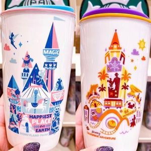 BUNDLE *** Disneyland Starbucks coffee travel mug